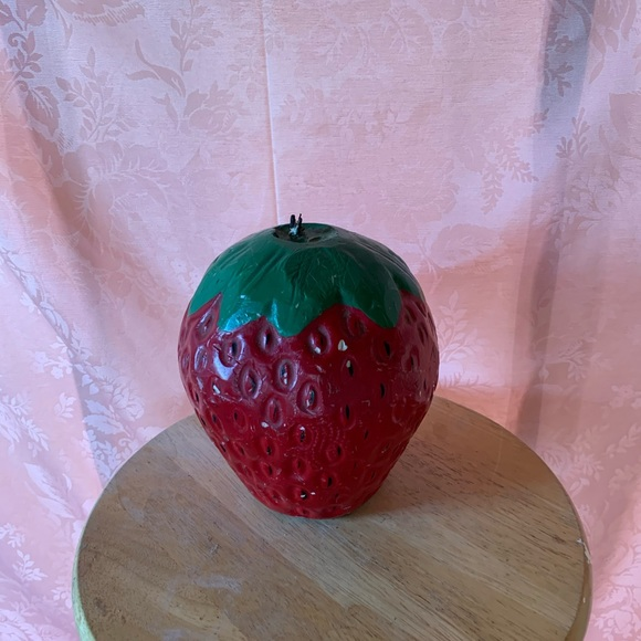 Vintage strawberry candle